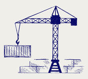 Crane working Royalty Free Stock Image