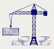 Crane working Royalty Free Stock Image