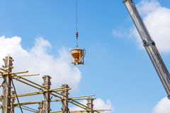 Crane working in construction on blue sky Royalty Free Stock Photography