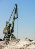 Crane working in harbour. Stock Image