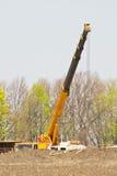 Crane working Stock Image