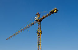Crane works at a building area Royalty Free Stock Photo