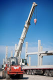 Crane works on construction Stock Photo