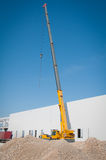 Crane works on construction Royalty Free Stock Image