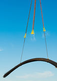 Crane works. The load-lifting mechanism in work. The load-lifting mechanism in work Stock Images