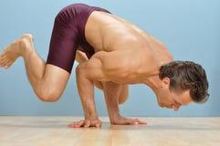 Crane yoga position Royalty Free Stock Photography