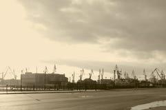Cranes'-Schattenbilder lizenzfreies stockbild