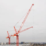 Cranes. Working on development in London Docklands Royalty Free Stock Photo
