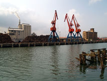 Cranes. At bilbao's docks (ria de bilbao stock images