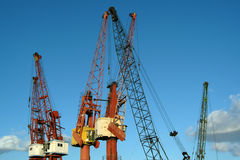 Cranes. In harbor Royalty Free Stock Photography