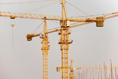 Cranes. On the construction site Stock Photo