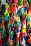 Cranes. Japanese origami paper cranes Stock Photography