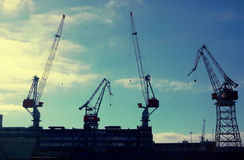 Cranes. In the port Royalty Free Stock Image