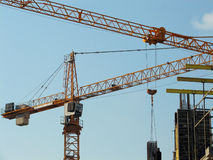 Cranes. Lifting cranes royalty free stock photo