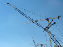 Cranes. At the construction site Royalty Free Stock Photos