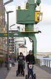 Cranes along the Rhine Stock Photos