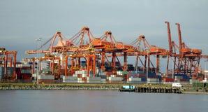 Cranes At The Docks Royalty Free Stock Photos