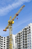 Cranes and building construction. Cranes on the building construction Stock Image