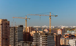 Cranes and building construction Royalty Free Stock Photos