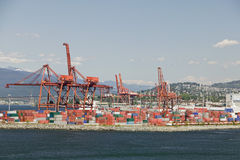 Cranes And Cargo Containers Stock Image