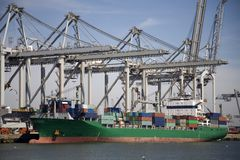 Cranes and carriers 2 Stock Images