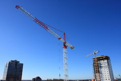 Cranes in the city Royalty Free Stock Photos