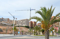 Cranes Closing In On The Beach Construction - Building Site Royalty Free Stock Image