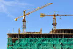 Cranes and construction Royalty Free Stock Photography