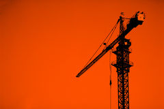 Cranes on a construction Stock Image
