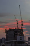 Cranes and construction Royalty Free Stock Image