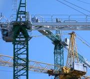 Cranes on construction site Stock Photos