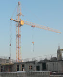 Cranes on a construction site. Crane on a construction site Stock Photography