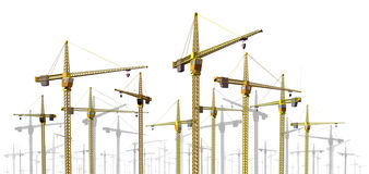 Cranes at Construction Site royalty free illustration