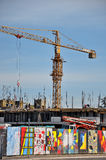 Cranes at construction site Stock Image