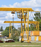 Cranes at the construction site royalty free stock photography