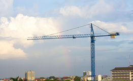 Cranes on a construction site Royalty Free Stock Photos