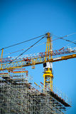 Cranes on a construction site Royalty Free Stock Image