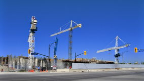 Cranes of Construction Time-Lapse stock video