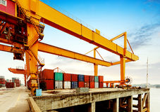 Cranes and container terminal on Stock Photos