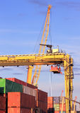 Cranes and containers for export Stock Photo