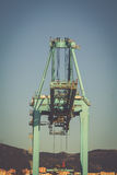 Cranes for containers in the port of Algeciras, Spain.  royalty free stock photography