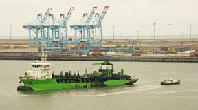 Cranes, Containers & Ships Stock Images
