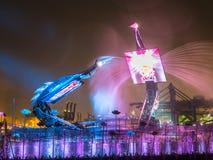 Cranes Dance Show Singapore Stock Photography