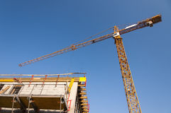 Cranes at developing the building Stock Photo