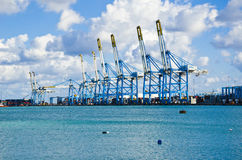 Cranes at Freeport Stock Photo