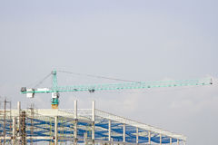 Cranes in green on  daylight Royalty Free Stock Photography