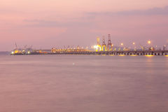 Cranes on Harbour Stock Photography