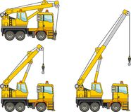 Cranes. Heavy construction machines. Vector illustration Royalty Free Stock Photography