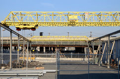 Cranes at an industrial unit Stock Photo