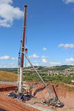 Cranes laying a new bridge Stock Image